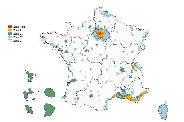zones loi Pinel 2019